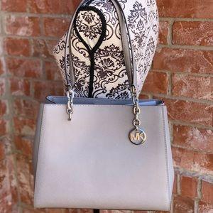 Michael kors Sofia large leather tote bag grey